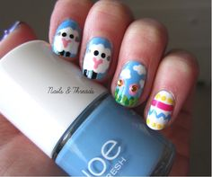 Nails & Threads: Easter Nail Art: Meadows of Cuteness!