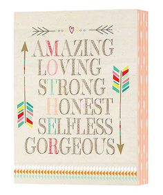 Jozie B Amazing Loving Strong Box Sign | zulily