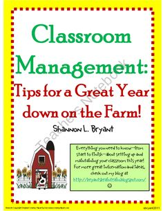 """""""Growing Responsible Farmhands . . """" idea found in this packet. Want to download and make first of year bulletin board."""