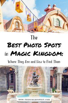 best photo spots at Magic Kingdom Disney World Vacation Planning, Walt Disney World Vacations, Disney Trips, Disney Parks, Disney Planning, Disney Travel, Disney Bound, Disney Disney, Disney Family
