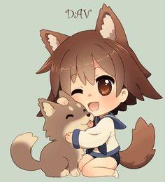 Chibi Yoshika and puppy by *DAV-19 on deviantART | Anime ...