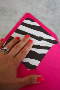 Great crafty blog with tons of gerat ideas including making your own lining for envelopes