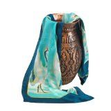 Hand Painted Silk Designer Scarf for Women - The Cranes - Oblong Silk Scarves Rectangle Long Scarf Mothers day gifts presents gift ideas her women wife mom mother daughter son birthday gifts her wife presents gift ideas women girlfriend something special me mom fashion dress dressy scarf scarves (Apparel)By TexereSilk