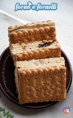 Ricetta Biscotto gelato al caffè Frozen Desserts, Easy Desserts, Biscotti Cookies, Oreo Cheesecake, Pie Dessert, Frozen Yogurt, Sweet Recipes, Cupcakes, Yummy Food