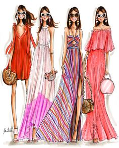 Being well dressed is a beautiful form of confidence, happiness & politeness Fashion Quotes, Fashion Art, Womens Fashion, Fashion Design Drawings, Fashion Sketches, Fashion Illustration Dresses, Fashion Illustrations, Dress Sketches, Dress Drawing