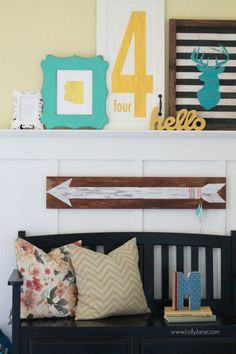 hand painted arrow sign » Lolly Jane