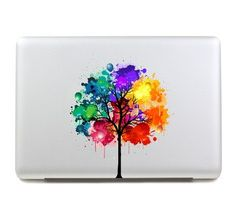 Color trees mac decals macbook sticker ma cover macbook Pro/Air/ipad sticker laptop decal macbook decals sticker Avery /apple ( BW014)
