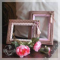 lillivanilli / Bodkované rámiky (ružový skladom)