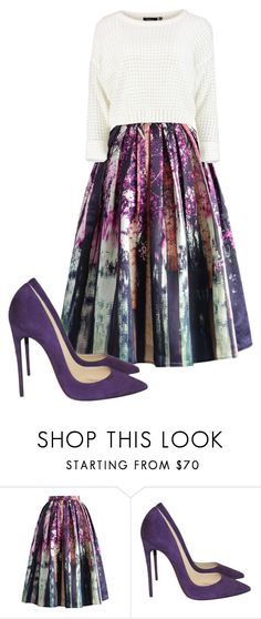 """Untitled #686"" by crinuut ❤ liked on Polyvore featuring Chicwish and Christian Louboutin"