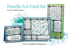 Doodle Art Card Set from the Spring 2015 issue of CardMaker Magazine. Order a digital copy here: https://www.anniescatalog.com/detail.html?code=AM5256