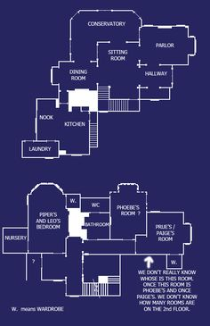 The Charmed house floorplan.  This was my dream house when I was a little girl.