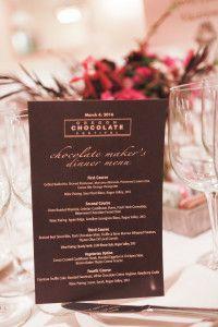 Chocolate Maker's Dinner Menu at 2016 Oregon Chocolate Festival www.oregonchocolatefestival.com