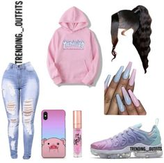 Cop or drop? Cute Lazy Outfits, Swag Outfits For Girls, Cute Outfits For School, Teenage Girl Outfits, Cute Swag Outfits, Girls Fashion Clothes, Teenager Outfits, Teen Fashion Outfits, Girly Outfits