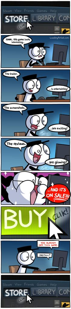 Buying a game on Steam [comic]
