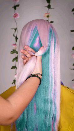 Hair Color Purple, Hair Dye Colors, Hair Color For Black Hair, Exotic Hair Color, Unicorn Hair Color, Cute Hair Colors, Split Dyed Hair, Aesthetic Hair, Grunge Hair