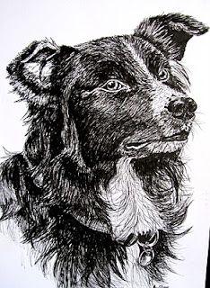 Sheepdog (Pen & Ink, A4)