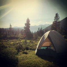Tent in the woods. Tent Camping, Camping Hacks, Sleeping Under The Stars, Outdoor Woman, Beautiful Places, Beautiful Scenery, Go Outside, Canoe, The Great Outdoors