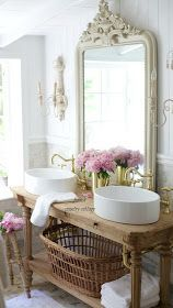 French Cottage Bathroom Vanity: How to get the look details - FRENCH COUNTRY COTTAGE