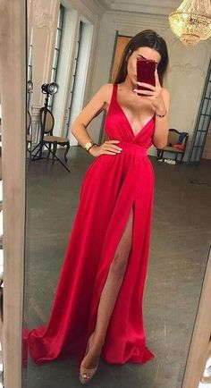 a2298fc12d Sexy Slit Evening Dress