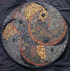 When Fire Meets Water by Virginia Mosaics. Abstract. I love this