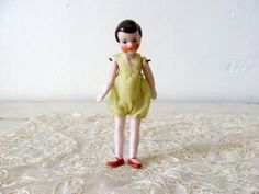 Antique German Dollhouse Flapper Girl Doll in by Somethingcharming, $65.00