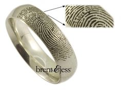 Wedding ring with messages