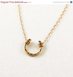 love this horseshoe necklace!