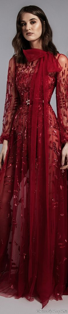 Bordeaux, High Fashion, Womens Fashion, Black White Red, Zuhair Murad, Warm Colors, Catwalk, Ready To Wear, Gowns