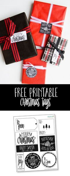 Free Printable Christmas Gift Tags by Love The Day