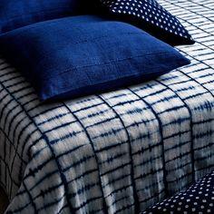 Geometric Resist Dye Bed Cover by Aboubakar Fofana