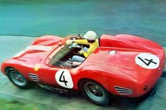 Olivier Gendebien in the Ferrari 250 Testa Rossa 59 he shared with Phil Hill to second place in the Nurburgring 1000Km in 1959 2
