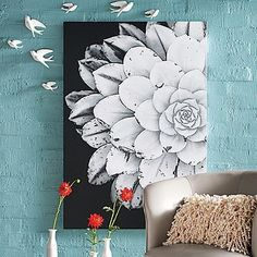 Dining room artwork $299 36 W x 52 H Bloom Wall Art