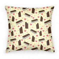 Ice Cream Sandwich Pattern Pillow