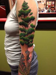 Tattoo by Erika Jones at Hidden Hand Tattoo in Seattle, WA - Is it just me or is that the most three dimensional tree EVER?!  **the most amazing detail ive ever seen