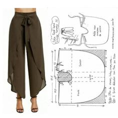 Sewing Clothes Women, Sewing Pants, Dress Sewing Patterns, Clothing Patterns, Fashion Sewing, Diy Fashion, Origami Fashion, Rock Fashion, Lolita Fashion