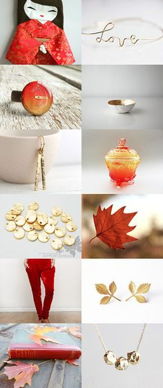 gold and red by nadamlada on Etsy--Pinned with TreasuryPin.com