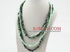 Green Series perla e collana Zoisite ritorto