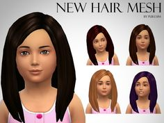 Puresim's Voluminous Hair Mesh For Girls