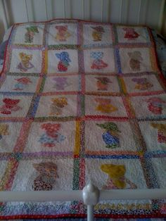 Sun Bonnet Sue/Overall Sam Quilt by Cozycornerquilt on Etsy, £125.00