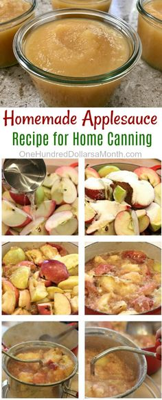 Homemade Applesauce recipe, Applesauce for Canning, Canning Recipes, Applesauce Recipes, Canned Applesauce Recipe