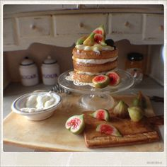 Fig Cake Dollhouse Miniature Food by 2smartminiatures on Etsy
