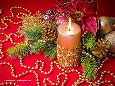 Christmas Candles Burning HD Wallpaper