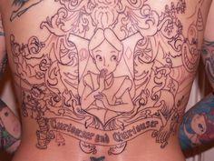 cheshire cat tattoos | tattooed on my back