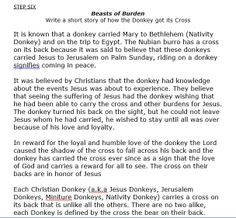 The Legend behind how the donkey got its cross