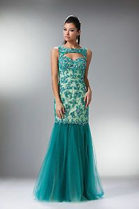 Gathered Tulle Mermaid Skirt Sleeveless Flowers Beading Rhinestones Prom Dress | eBay