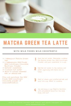 Match Green Tea Latte with Wild Foods Wild Cocotropic Powder | Matcha Green Tea Latte Recipe | Daily Goodie Box Product Review | From: www.amamatale.com