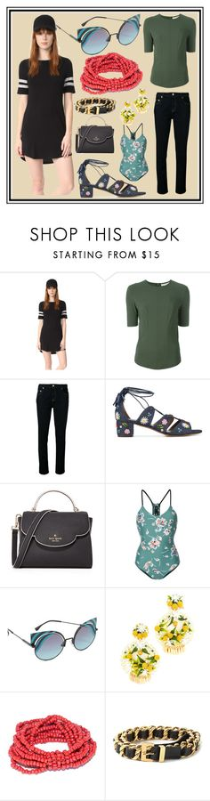 """EMPOWER WOMEN"" by cate-jennifer ❤ liked on Polyvore featuring Z Supply, A.F. Vandevorst, Sonia by Sonia Rykiel, Tabitha Simmons, Kate Spade, The Upside, Fendi, Mercedes Salazar and Chanel"