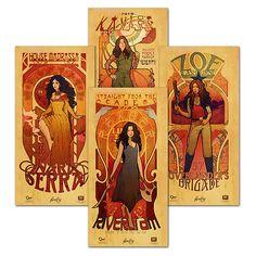 ThinkGeek :: Firefly Les Femmes Poster Set
