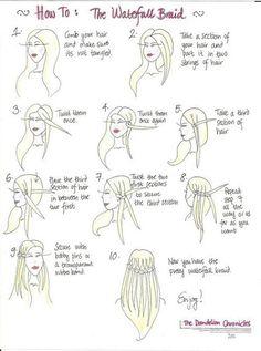 waterfall hair by sweet.sammy-antha
