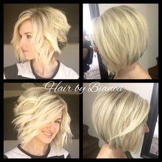 Short hair done up straight and curly for two different looks. Hair Color And Cut, Cut My Hair, Her Hair, Medium Hair Styles, Curly Hair Styles, Shoulder Hair, Blonde Hair, Short Blonde, Pretty Hairstyles